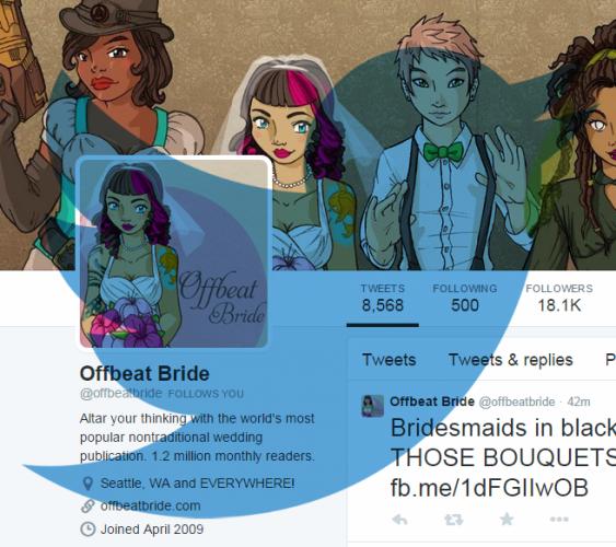 twitter offbeat bride